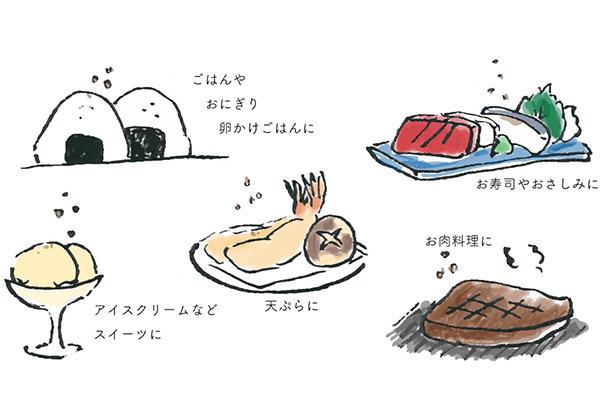 カカオ塩山椒の使い方
