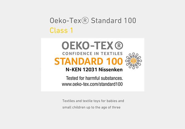 エコテックス規格100のクラス1をクリア