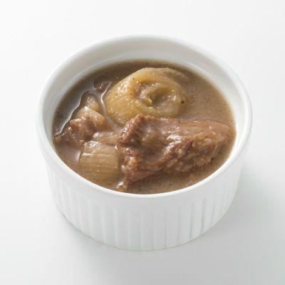 すき焼き風牛すじ入り椎茸オニオンソース