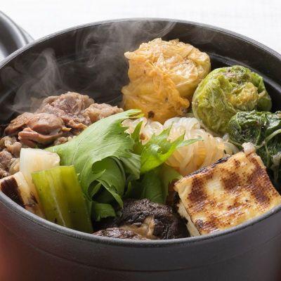 すき焼き風牛すじ入り椎茸オニオンソースを使ったお料理