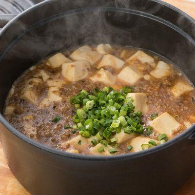 オリーブと肉味噌のソースを使ったお料理1