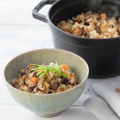 椎茸オニオンソースを使った料理1