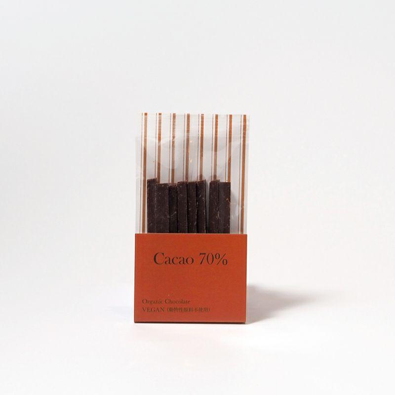 有機スティックチョコレート カカオ70%商品画像