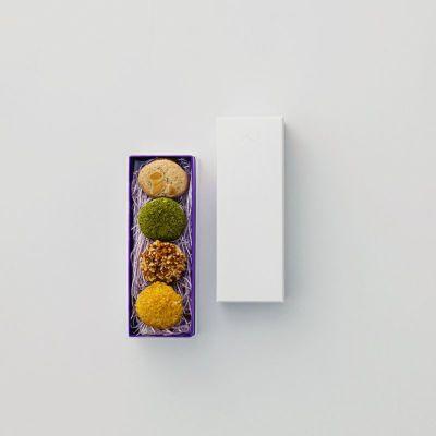 ダックワーズ(4個入)と外箱イメージ