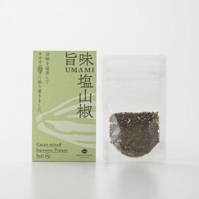旨味塩山椒(パウチ)のパッケージ