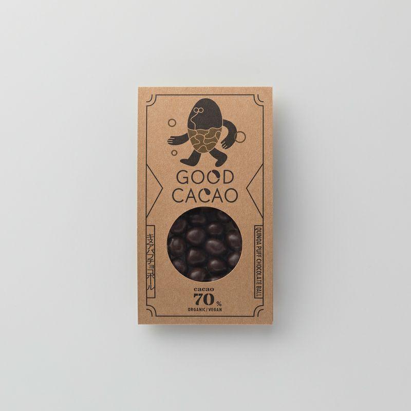 有機キヌアパフチョコボールのパッケージ
