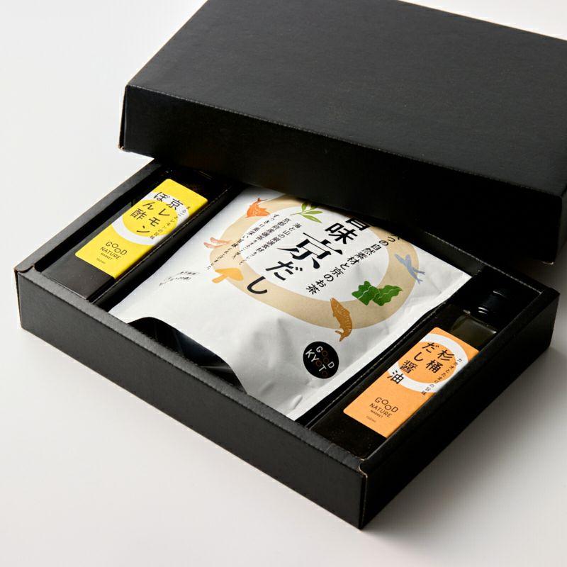 旨味調味料セット(だし醤油・ぽん酢・京だし)商品イメージ