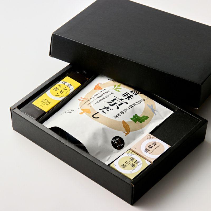 旨味調味料セット(塩・ぽん酢・京だし)_1
