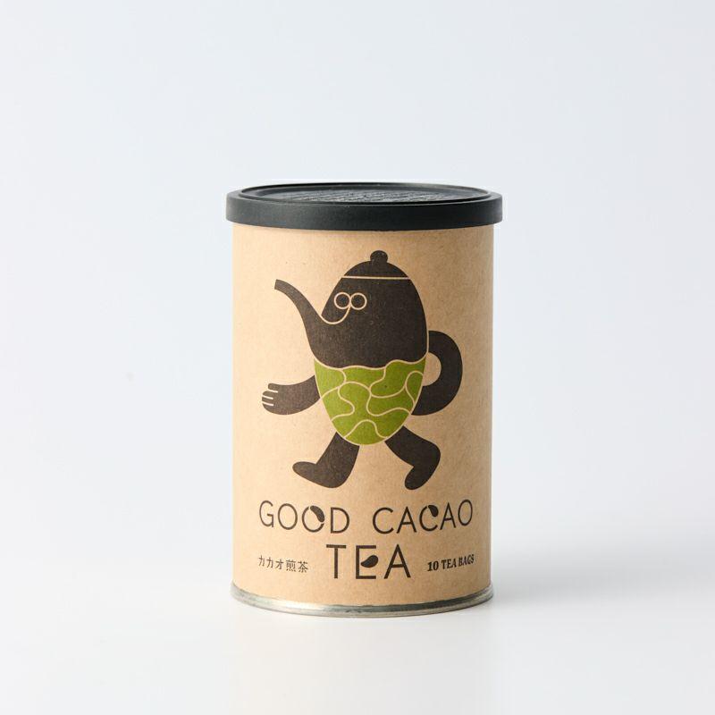 カカオ煎茶(缶)/カカオティー メイン画像