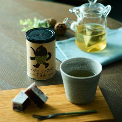 カカオ煎茶(缶)/カカオティー  ティータイムイメージ