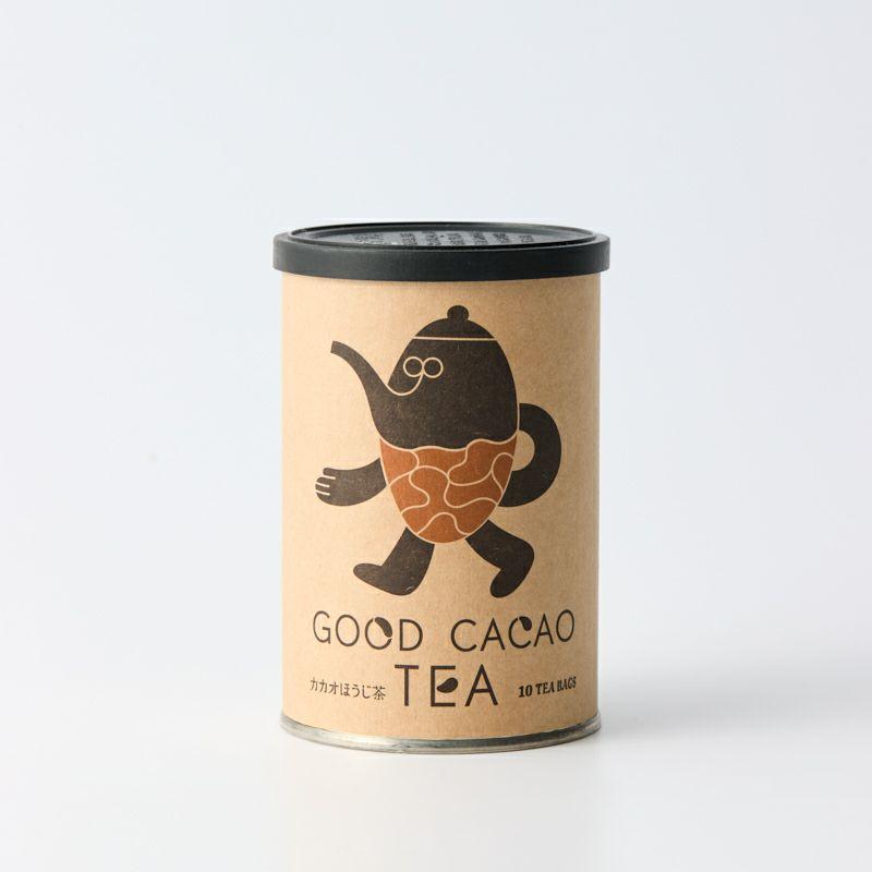 カカオほうじ茶(缶)/カカオティー パッケージイメージ